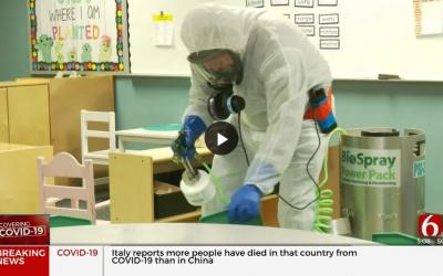 Mannford Schools Increasing Sanitation