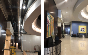 Hyatt lobby - before and after
