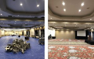 Hyatt meeting room - before and after